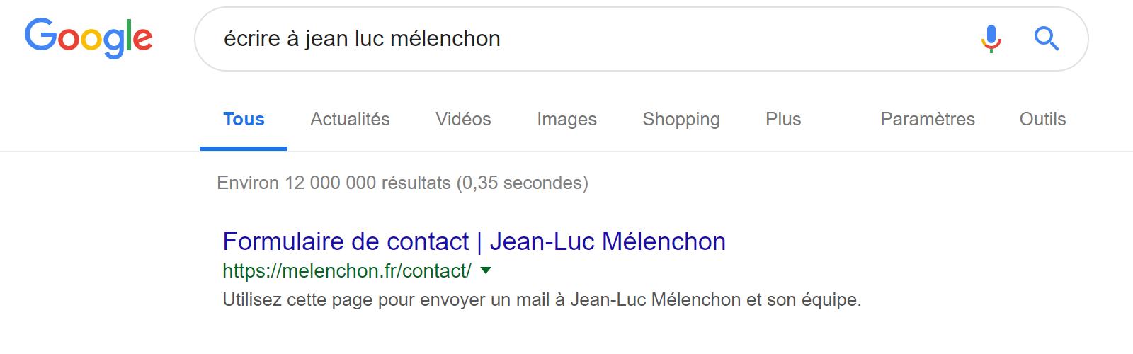 Melenchon Google