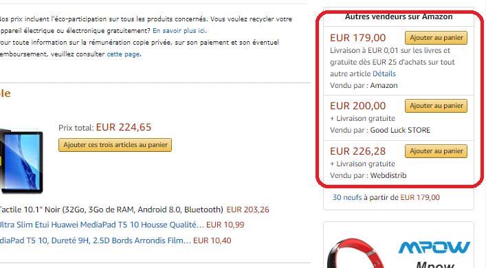 Autres vendeurs Amazon