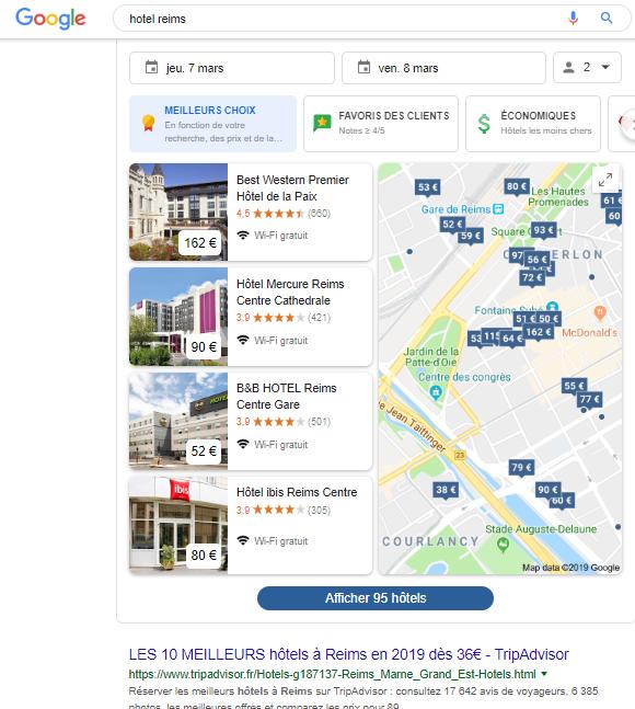 SERP Google Hotel