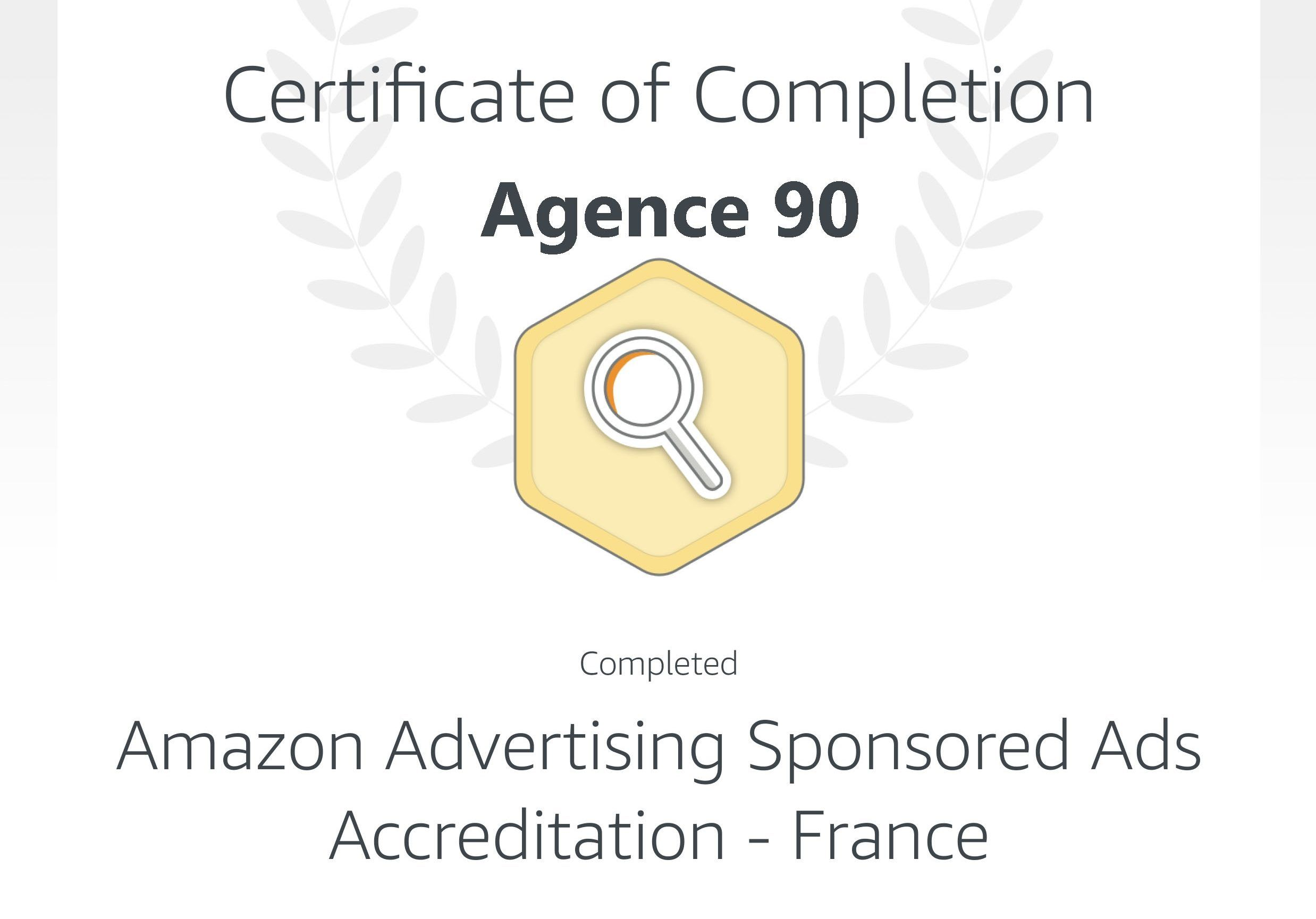 certification amazon agence 90