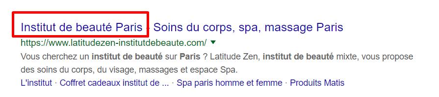 meta title institut de beaute paris