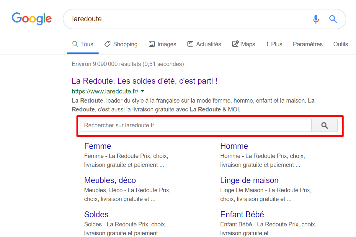 search box redoute