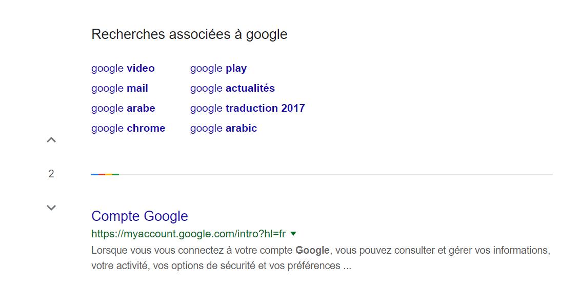 pagination serp google nouveau
