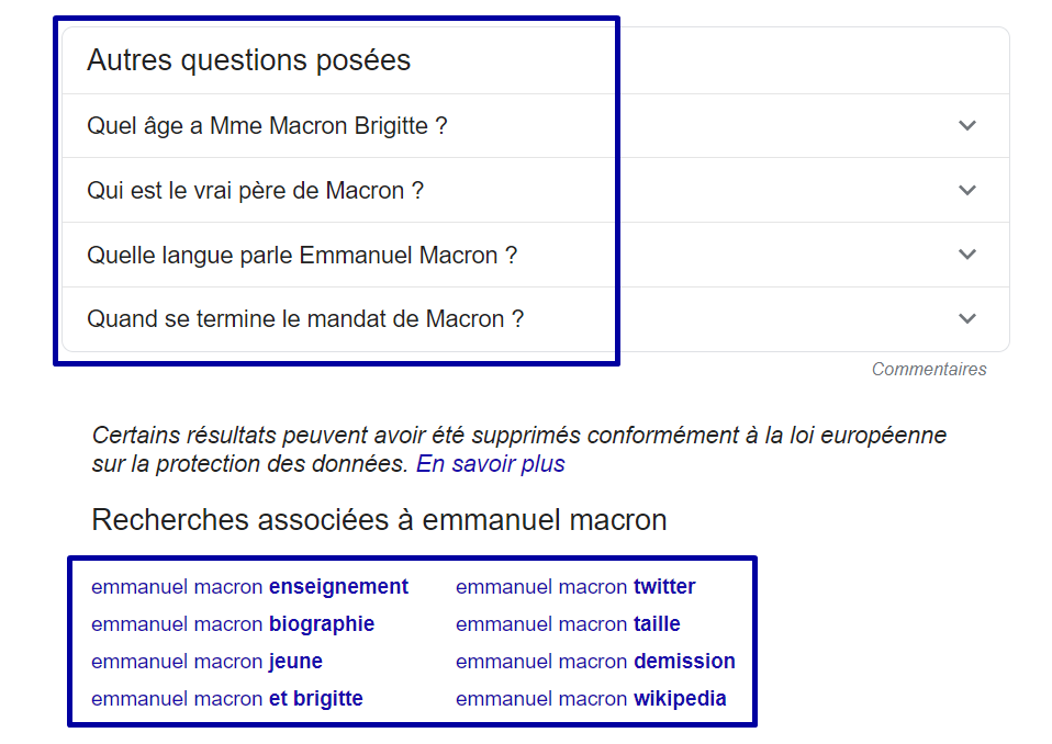 recherches associees questions posees macron