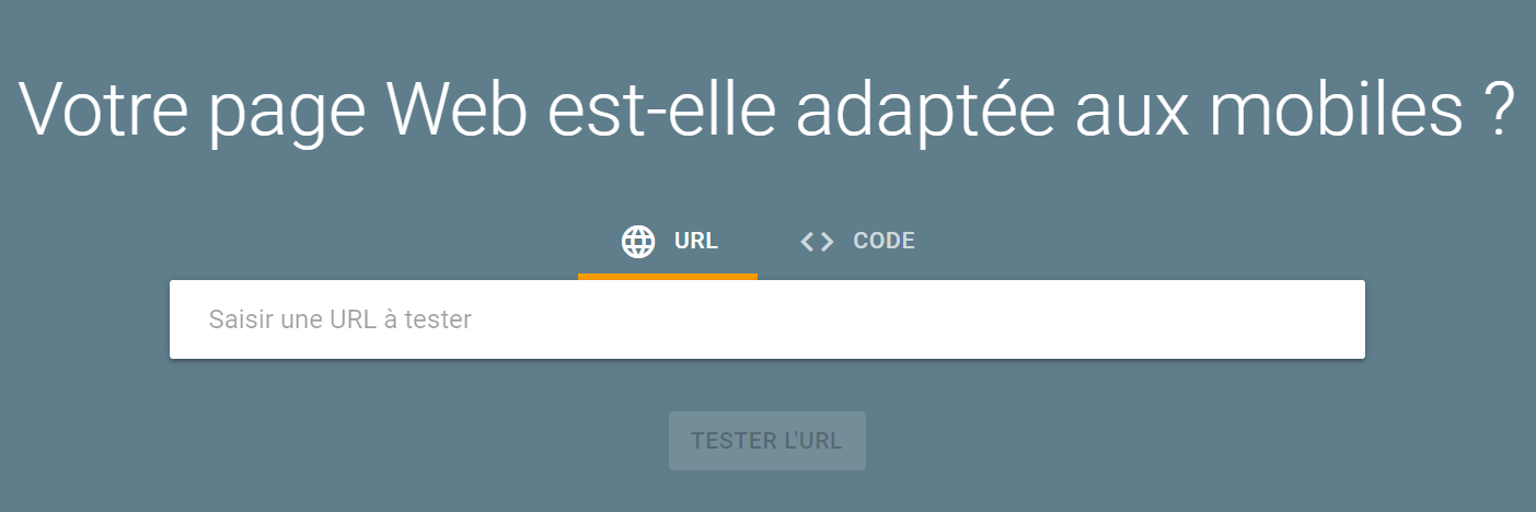 test optimisation mobile google