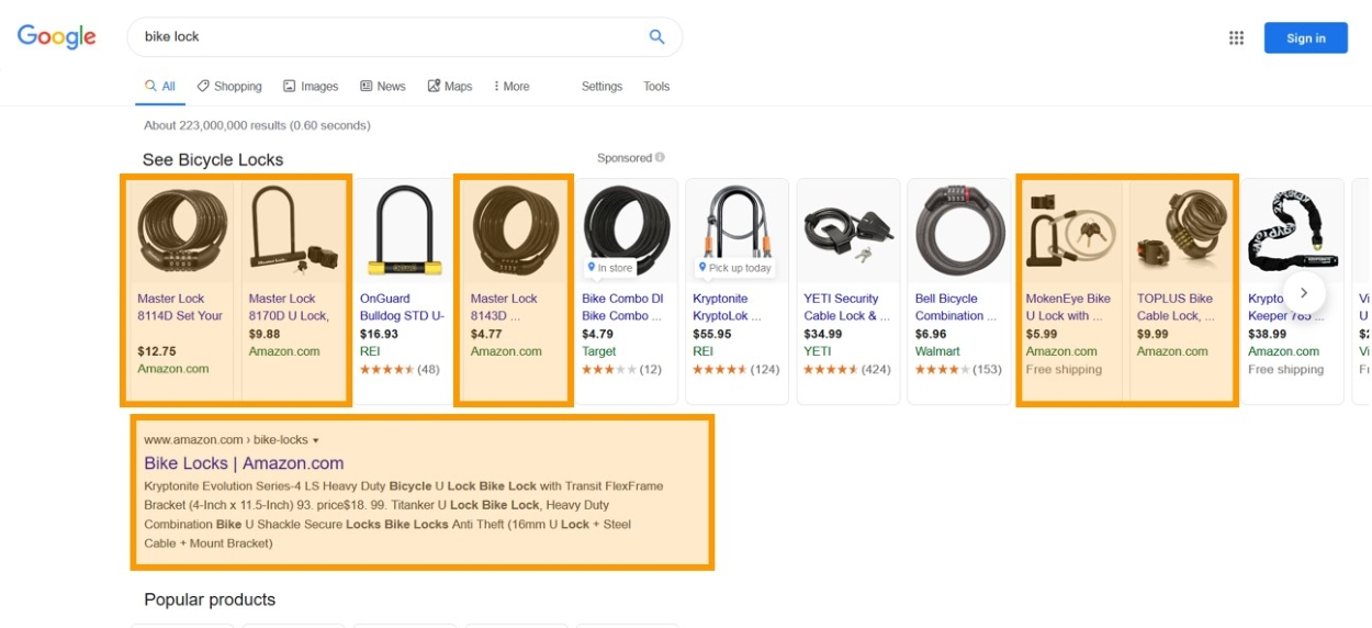 searchmetrics google shopping amazon