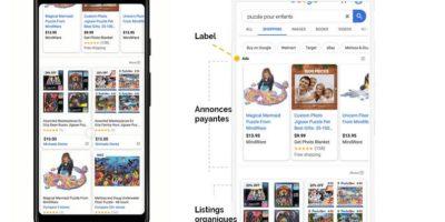 Listings organiques google shopping