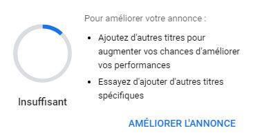 Niveau de qualité Google Ads