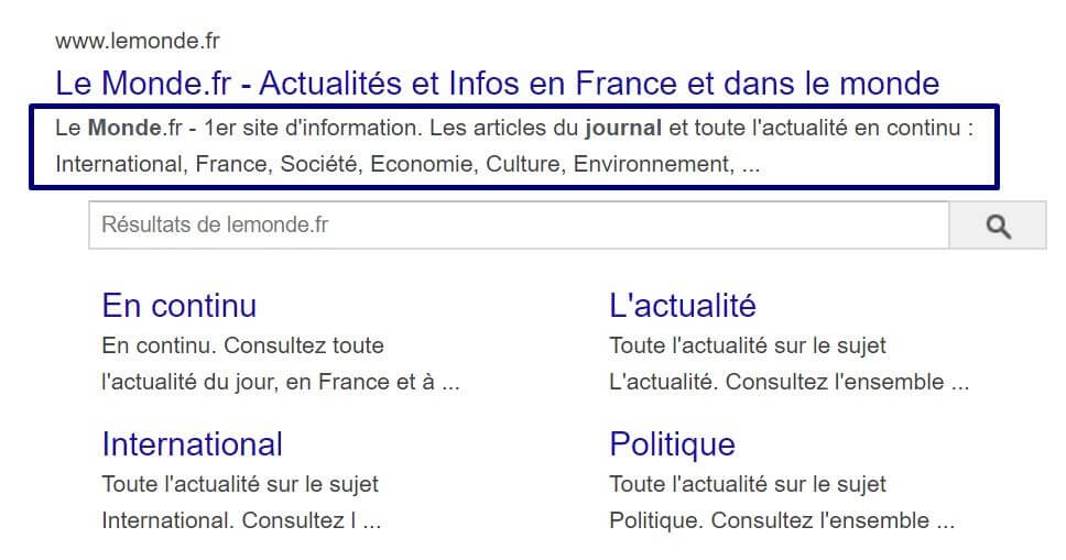 exemple meta description le monde