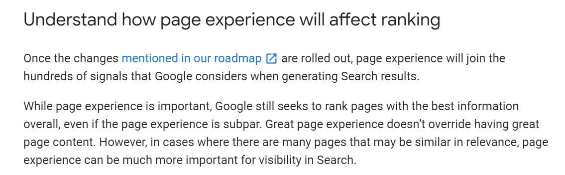 page-experience-google