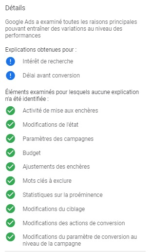 criteres Explications Google Ads