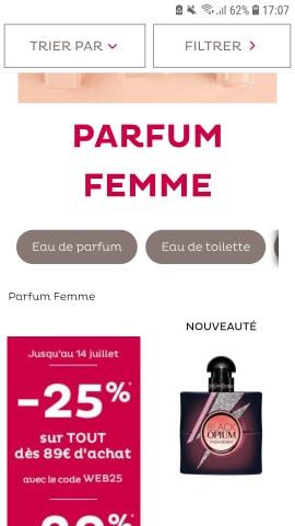 texte cat parfum femme nocibe mobile