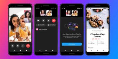 partage ecran messenger app