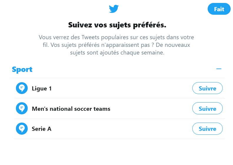 topic selector twitter