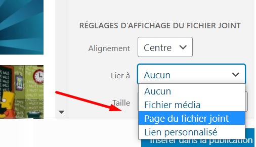 page fichier joint
