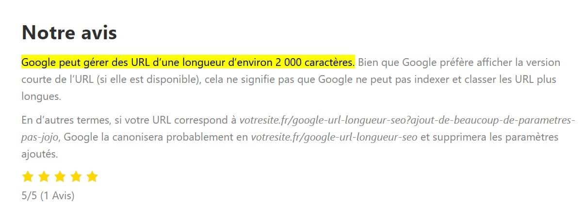 ex texte surbrillance google