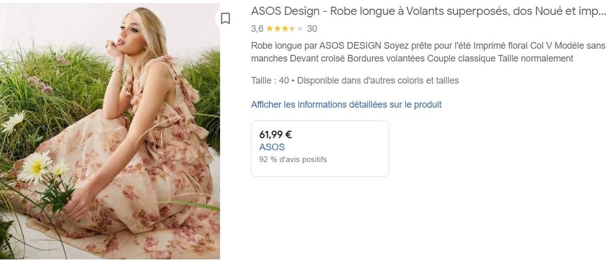 asos google shopping